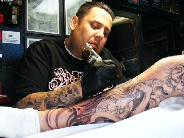 Our family ben corn is now in sf go pay him a visit for Ben corn tattoo
